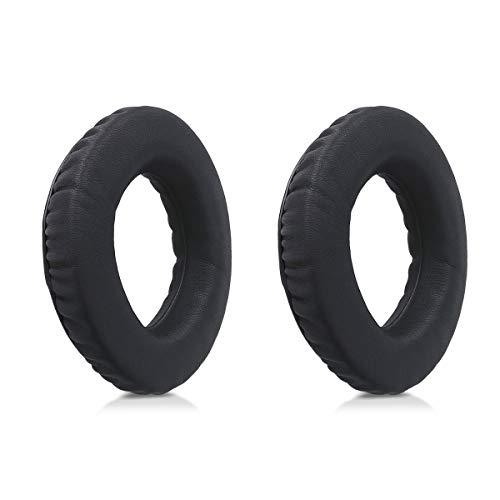 kwmobile 2X earpads for Sennheiser PX360 / MM550-X / MM450-X Earphones - Leatherette Replacement Ear pad for Sennheiser Headphones - Black