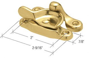 Brass Door Sweep - C.R. LAURENCE F2600 CRL Solid Brass Window Sash Lock with 2