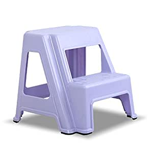 Amazon Com Dual Height Step Stack Stool Violet
