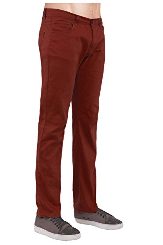 Red Monkey Jeans (Guytalk Mens Slim Skinny Fit Jeans Cotton Stretch Pants RUST)
