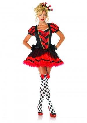 Leg Avenue Women's Dark Heart Queen Costume, Red/Black, Medium ()