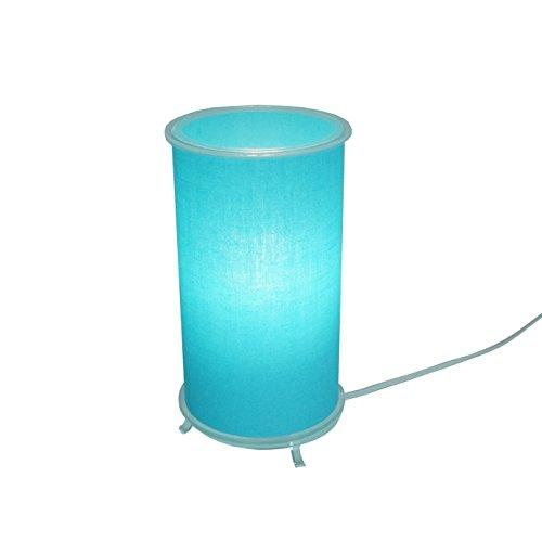 Abajur Cilíndrico Revestido com Tecido Crie Casa Azul Claro