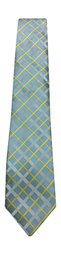 Powder Blue and Yellow Plaid Tie- LOGAN 1330 Tipping