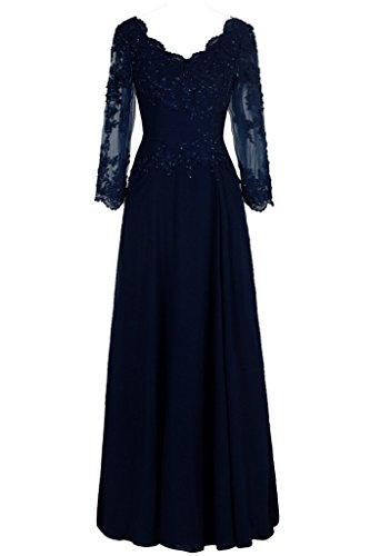 Buy mother of the bride long blue dresses - 2