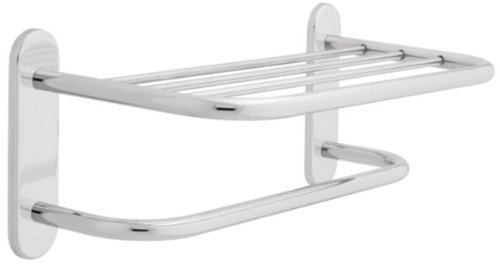 Franklin Brass 2787PC, Bath Hardware Accessory, 18-Inch Towel Shelf with One Bar Concealed Mounting