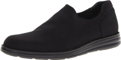 Donald J Pliner Footwear Mens Erling-D Slip-OnBlack Crepe Elastic7.5 M US