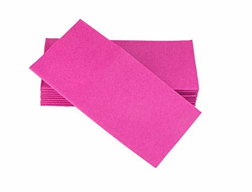 Simulinen Dinner Napkins - Disposable, Magenta, Cloth-Like - Elegant & Heavy Duty, Soft & Absorbent, Like Paper but Better! 16