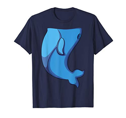 Whale Costume T-Shirt for Halloween Whale Fish Cosplay -