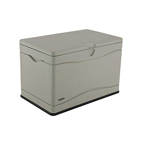 Lifetime 60059 Outdoor Storage Deck Box, 80 Gallon, Desert Sand