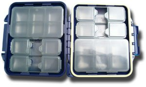 Meiho Waterproof Component System Fly Box - 14 Compartment - Navy Blue -