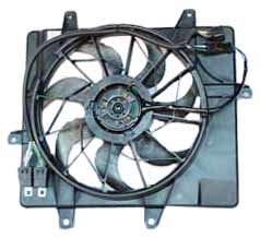 Chrysler Cruiser Motor Pt Engine (TYC 621240 Chrysler PT Cruiser Replacement Radiator/Condenser Cooling Fan Assembly)