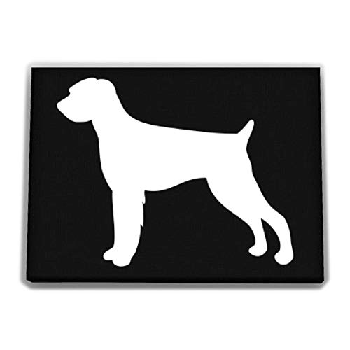 Idakoos German Wirehaired Pointer Silhouette Canvas Wall 12