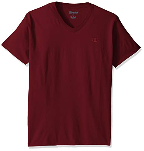 Champion Men's Classic Jersey V-Neck T-Shirt, Maroon, for sale  Delivered anywhere in Canada
