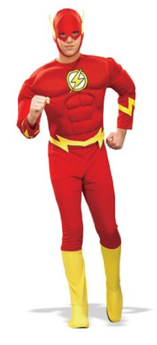 DC Comics Deluxe Muscle Chest The Flash(Adult) (Super Villain Costumes For Men)