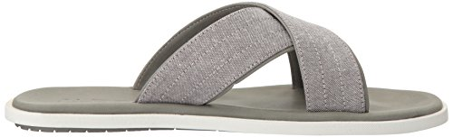 ALDO Mens Etroits Flat Sandal, Dark Grey, 7 D US