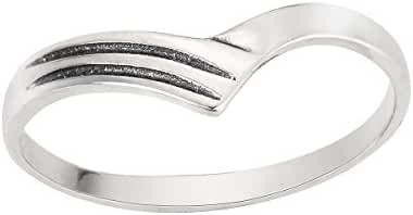 Pointed Hearty Ring Sterling Silver 925 (Sizes 2-14)