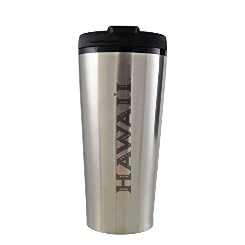 The University of Hawai'i-16 oz. Travel Mug Tumbler-Silver by LXG, Inc.