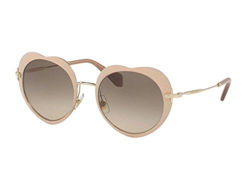 Miu Miu Women's Heart Sunglasses, Matte Pink/Brown, One - Miu Miu Heart Sunglasses