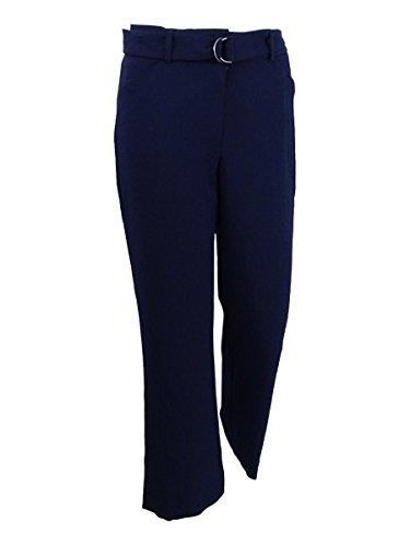 - Tahari ASL Women's Petite Belted Crepe Trousers (8P, Navy)