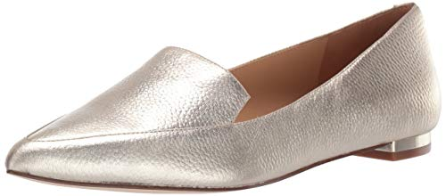 Nine West Women's Fashion Flat Loafer, Gold (Nine West Gold Shoes)