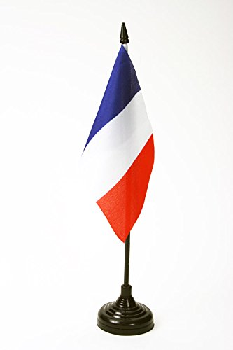BANDIERA DA TAVOLO FRANCIA 15x10cm - PICCOLA BANDIERINA FRANCESE 10 x 15 cm - AZ FLAG