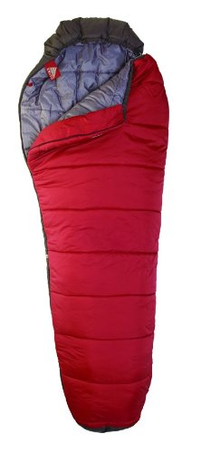 Kelty Mistral 20 Degree Synthetic Sleeping Bag Extra Long Blood Red