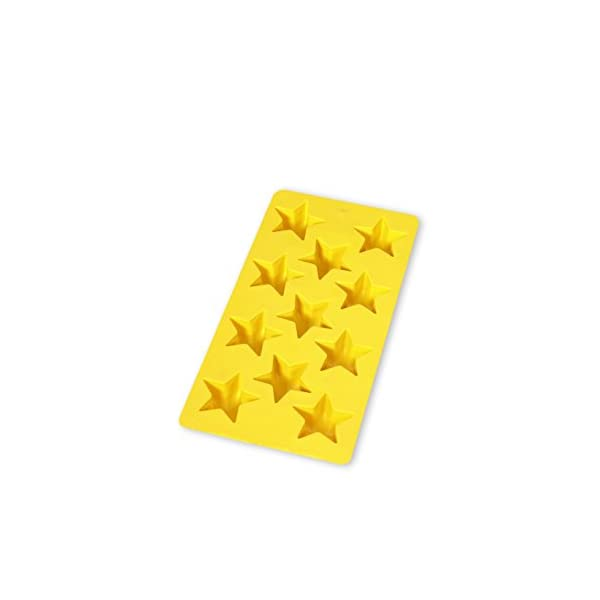 Lékué - Vaschetta per cubetti di ghiaccio a forma di stella, colore: giallo, 11 pezzi 1 spesavip