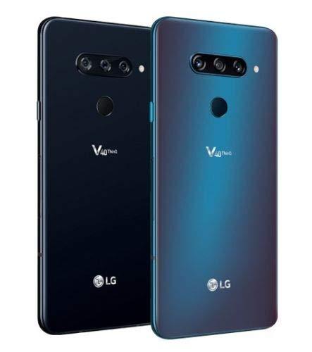 LG V40 ThinQ LM-V409N Dual Sim (Blue, 128GB) - Factory Unlocked - International Version - GSM ONLY, NO CDMA - No Warranty in The USA