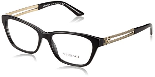 Versace Women's VE3220 Eyeglasses Balck - Eyeglasses Versace Eye Cat