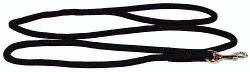 Hamilton 835 BK 3/16-Inch by 4-Foot Round Braided Nylon Dog Lead with Swivel Snap, Black, My Pet Supplies