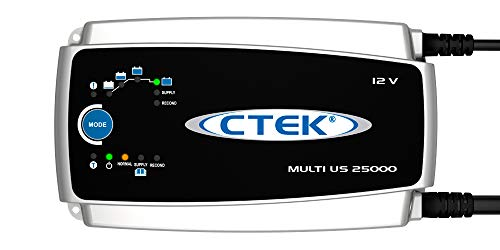 CTEK (56-674) Multi US 25000 8-step, Fully Automatic 12 Volt 25 Amp Battery Charger