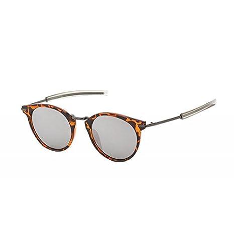 Sonnenbrille Panto Round Glasses 400 UV Steg hoch eckig Metall Bügel gerade
