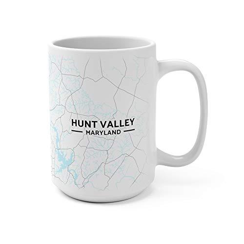 Hunt Valley, Maryland Map Mug (15 oz) (Hunt Maryland Valley)