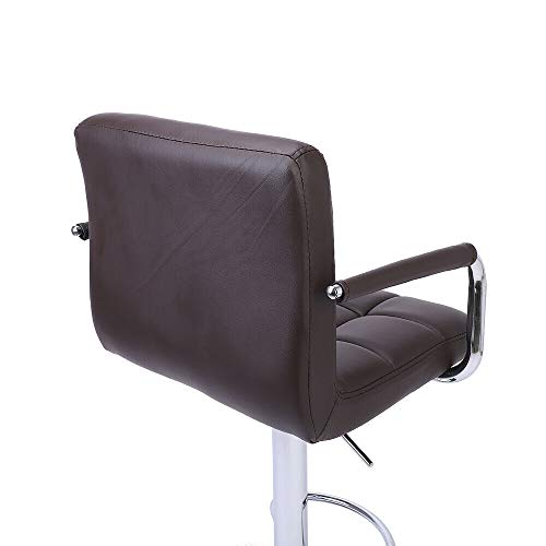 Nual_shop 2 PCS Swivel Leather Chair Adjustable Bar PU Stools Office with Armrest Coffee by Nual_shop (Image #8)