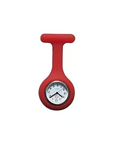 PromiseU-Nurses-Fob-Watch-Brooch-Blue-Silicon-Gel-Fob-Watches
