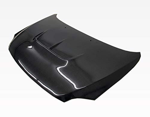 VIS Racing (VIS-RBI-986) Black Carbon Fiber Hood Zyclone Style for Scion TC 2DR 05-10 ()