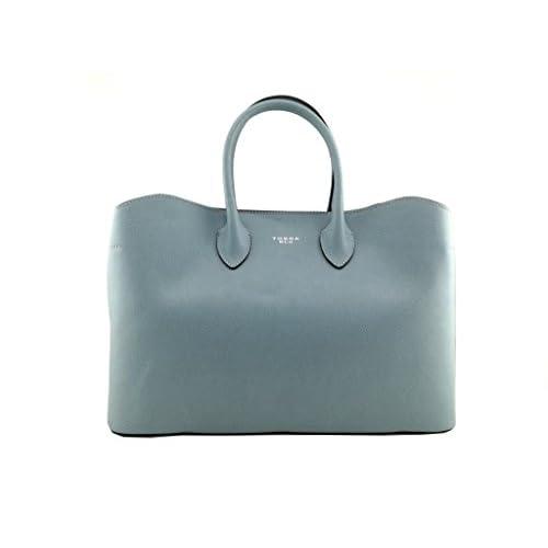 5afde23f7 Tosca Blu - Bolso al hombro de piel para mujer Azul claro talla única 50%