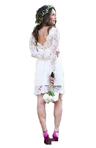 Kurz Women's with Spitzen Wedding e Lang Wei Kleid Kleides White Party Fanciest Sleeevs F5gqwxHqR