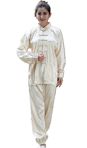 Shanghai Story Martial Arts Women's Tai Chi Uniform Silk Kung Fu Suit M 10