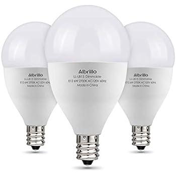 Albrillo E12 Bulb Dimmable Led Candelabra Bulbs 60 Watt