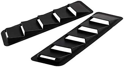 Car Decorative Part Mustang GT Black, 2 Pieces TopFly Hood Vent for Jeep Wrangler Universal Hood Louvers Vent Scoop Kit Eclipse GSX Grand Cherokee