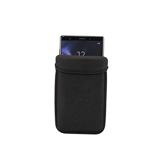 Universal Black Phone Sleeve Pocket,Neoprene Elastic Fabric Soft Shockproof Protective Cover Pouch Fit Under...