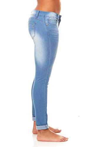 Cute Women's Juniors/Plus Butt Lifting Stretchy Skinny Jeans Juniors Sizes 3 Light Wash