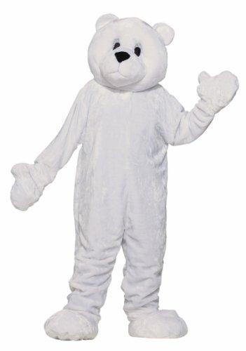 Forum Deluxe Plush Polar Bear Mascot Costume, White, One (Polar Bear Costume Mens)
