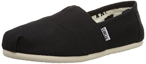 TOMS Women's Canvas Slip-On,Black,8.5 M