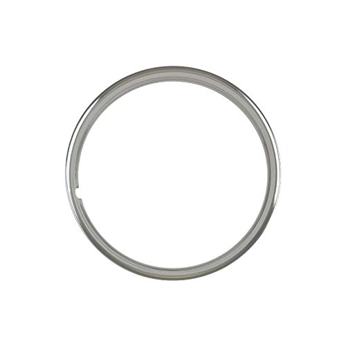 MACs Auto Parts 32-17101 Wheel Trim Ring - Stainless Steel - 14 - Smooth - Ford