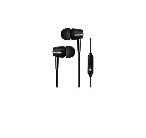 SRB Universal in- Ear Hands-Free   Earphones with Mic and 3.5mm Jack   Calling Function   Microphone  Bass Boost Sound   Round Wired for All Android Smartphone (Black)