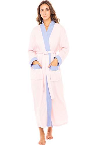 Alexander Del Rossa Women's Warm Fleece Robe, Long Plush Bathrobe