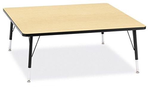 Jonti-Craft Ridgeline Kydz Square Activity Table (11-15 in. H - Maple)
