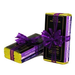 Pelindaba Organic Lavender Gourmet Chocolate Bar Trio - Milk, Dark, White - 1.25 oz (Organic Chocolate Candy compare prices)
